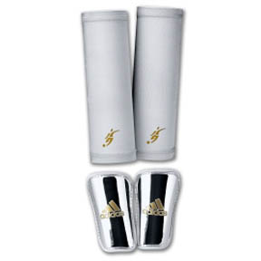 adidas Pro Lite David Beckham Soccer Shinguard (Silver)
