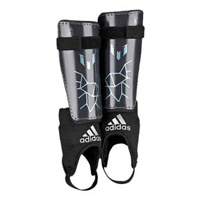 adidas Youth Lionel Messi 10 Soccer Shinguard (Night Grey)