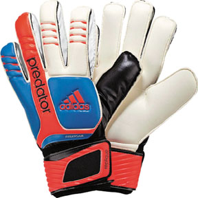adidas Predator Fingersave Replique Soccer Goalkeeper Glove (Blue)