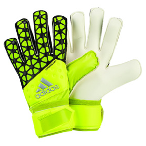 adidas ACE Fingersave Replique Soccer Goalie Glove (Solar Yellow)