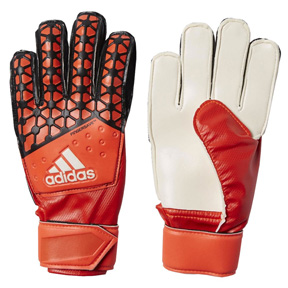 adidas Youth ACE Fingersave Soccer Goalkeeper Glove (Red)