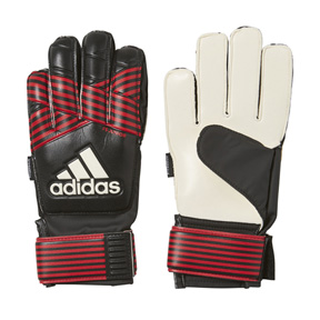 adidas Youth  ACE Fingersave Soccer Goalie Glove (Black/Red)