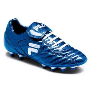 Fila Serpente Blue Soccer Shoes (Reptile Blue/White)