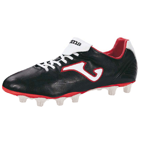 Joma Total Fit FG Soccer Shoes (Black/White/Red)