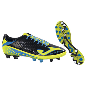 Joma Super Copa FG Soccer Shoes (Black/Yellow)