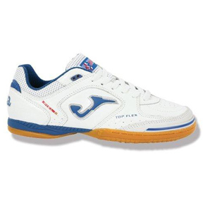 Joma Top Flex Futsal / Indoor Soccer Shoes (White/Blue)