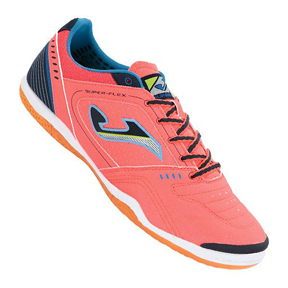 Joma SuperFlex 308 Indoor Soccer Shoes (Orange/Blue)