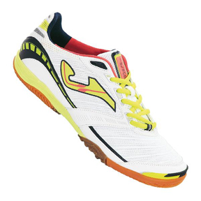 Joma Lozano 302 Indoor Soccer Shoes (White/Fluorescent Yellow)