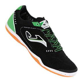 Joma SuperFlex 301 Indoor Soccer Shoes (Black/Green)