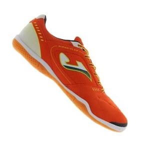 Joma Super Flex Indoor Soccer Shoes (Orange/White)