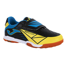 Joma Youth Tactil 401 Indoor Soccer Shoes (Black/Yellow)