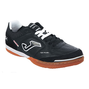 Joma Top Flex Indoor Soccer Shoes (Black/White)