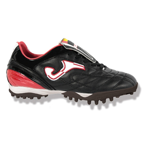 Joma Youth Classic Turf Soccer Shoes (Black/White/Red)