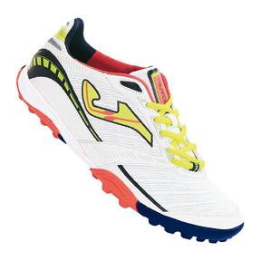 Joma Lozano 302 Turf Soccer Shoes (White/Neon Yellow)