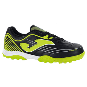 Joma Youth Toledo 401 Turf Soccer Shoes (Black/Yellow)