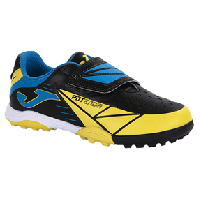 Joma Youth Tactil 401 Turf Soccer Shoes (Black/Yellow)