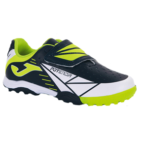 Joma Youth Tactil 403 Turf Soccer Shoes (Navy/Yellow)