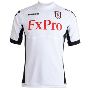 Kappa Fulham Authentic  Soccer Jersey (Home 2011/12)
