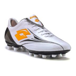 Lotto Zhero Flash LT FG Soccer Shoes (White/Orange)