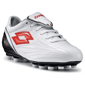 Lotto Youth Zhero Leggenda LT FG Soccer Shoes (White/Red)
