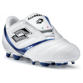Lotto Vento Spirit FG Soccer Shoes (White/Blue)