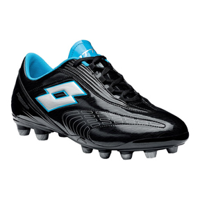 Lotto Fuerzapura L500 FG Soccer Shoes (Black/Silver)