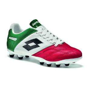 Lotto Stadio Potenza IV 700 FG Soccer Shoes (Red/White/Green)