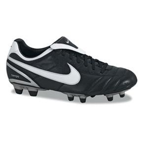 Nike Tiempo Mystic II FG Soccer Shoes (Black/White)