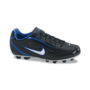 Nike Youth Rio FG Soccer Shoes (Black/White/Blue Spark)