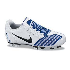 Nike Youth Total 90 Shoot II FG Soccer Shoes (White/Blue ...