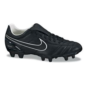 Nike Tiempo Mystic II FG Soccer Shoes (Black/Black)