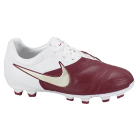 Nike Youth CTR360 Libretto FG Soccer Shoes (White/Red)