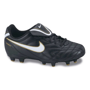 Nike Youth Tiempo Natural III FG Soccer Shoes (Black)