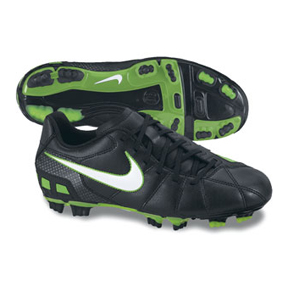 Nike Youth Total 90 Shoot III FG Soccer Shoes (Black/Electric Green)