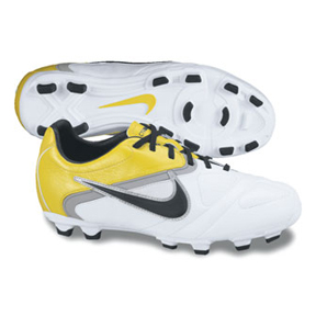 Nike Youth CTR360 Libretto II FG Soccer Shoes (White/Yellow)