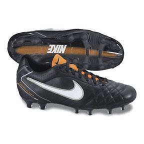 Nike Tiempo Flight FG Soccer Shoes (Black/White)