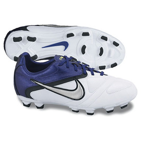 Nike Youth CTR360 Libretto II FG Soccer Shoes (White/Purple)