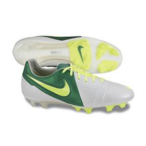 Nike CTR360 Maestri III FG Soccer Shoes (White/Pine/Volt)