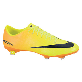 Nike  Mercurial Vapor IX FG Soccer Shoes (Volt/Black)