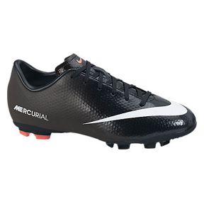 Nike Youth Mercurial Victory IV FG Soccer Shoes (Black/White)