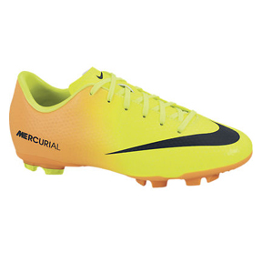 Nike Youth Mercurial Victory IV FG Soccer Shoes (Volt)