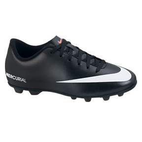 Nike Youth Mercurial Vortex FG-R Soccer Shoes (Black/White)