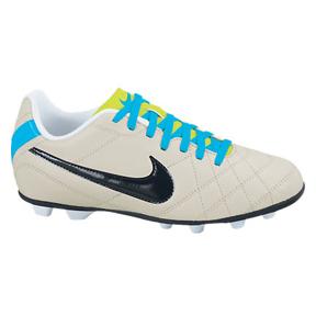 Nike Youth Tiempo Rio FG Soccer Shoes (Bone/Blue)