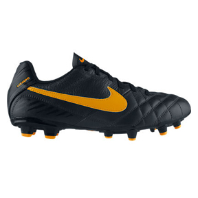 Nike Youth Tiempo Natural IV Leather FG Soccer Shoes (Charcoal)