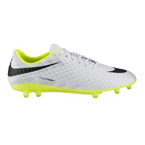 Nike HyperVenom Phantom Reflective FG Soccer Shoes (White)