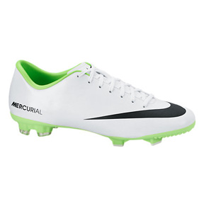 Nike Mercurial Victory IV FG Soccer Shoes (White/Electric Green)