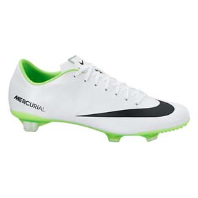 Nike  Mercurial Veloce FG Soccer Shoes (White/Electric Green)