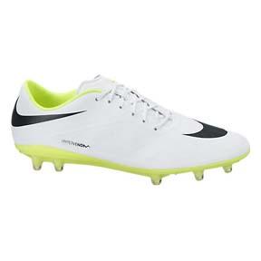 Nike HyperVenom Phatal FG Soccer Shoes (White/Volt/Black)