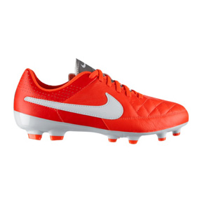 Nike Youth Tiempo Genio Leather FG Soccer Shoes (Crimson)