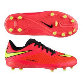 Nike Youth HyperVenom Phelon FG Soccer Shoes (Crimson)